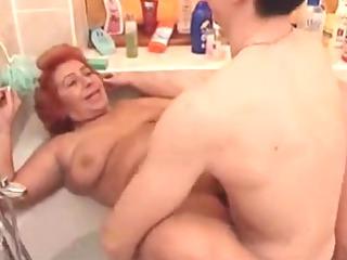 big beautiful woman Granny Fuck in the Tub