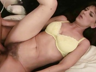 Grandma gets her hairy pussy fucked