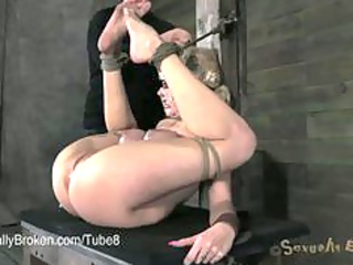 Hot MILF Fucked Rough in Bondage