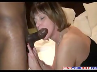 Nasty MILF anal rimming with big black guy