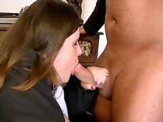 Fat brunette mature lady loves sucking part5