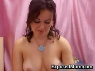 Milf welcomes you to her masturbation part1