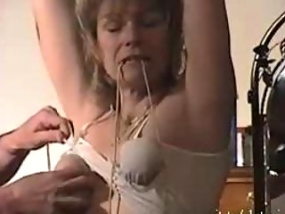 First BDSM treament Submissive milf Maria