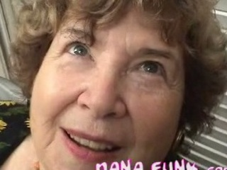 Granny blowing white cock