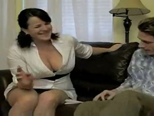 Hot busty smoking mom bangs soninlaw