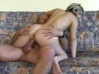 Grandpa gives creampie