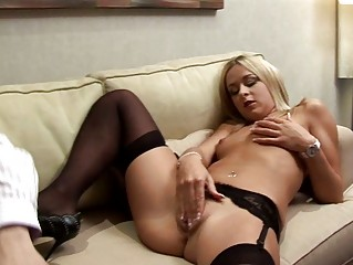 Blonde European chick wants mature cock