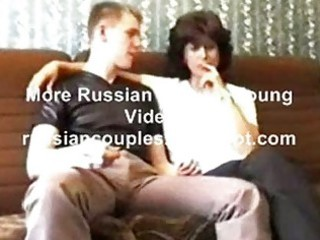 Russian mature mom amalia with her boy