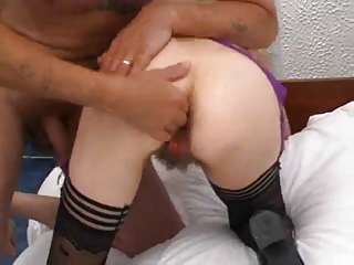 Hairy Mature Pussy Fisted and Fucked by TROC