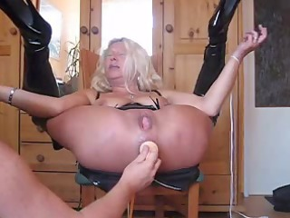 Golden-Haired Granny squirts