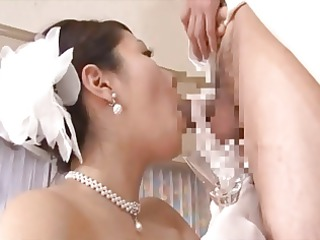 Mature Brides Drinking Cum
