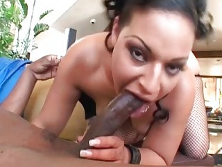 Slutty brunette MILF roughly fucked by BBC