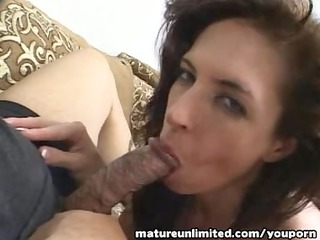 Horny mom go for sucking handjob blow job