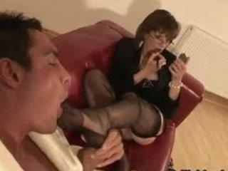 Mature british femdom foot play
