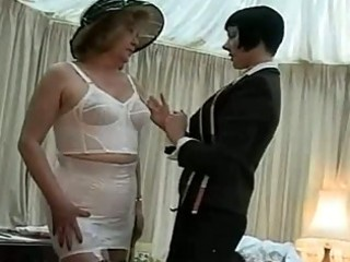 Lingerie fitting for a mature lady